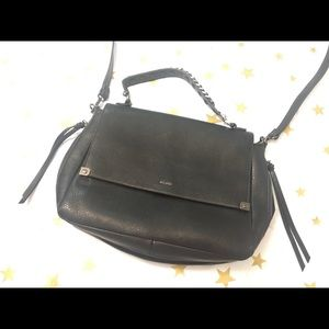 Aldo black satchel crossbody bag for woman